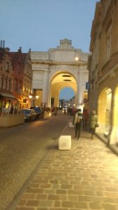 Menin Gate by night